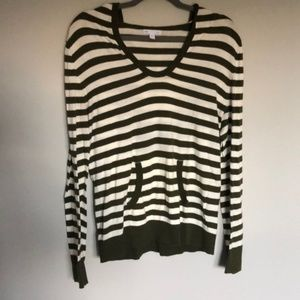 Gap Striped Hooded Pullover Sweater